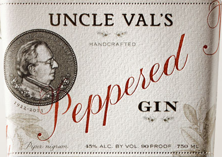 Uncle Vals Peppered Gin Label
