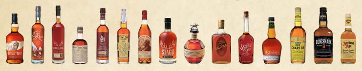 The many brands of Buffalo Trace.